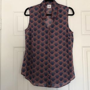 Cabi sheer, sleeveless top Sz M New WO tags